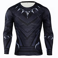 Black Panther 3D Printed Fitness Compression Shirt