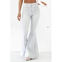 Cross The Line Striped Flares