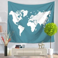 Colored World Map Tapestry Indian Style Boho Tapestry Wall Hanging 130cmx150cm 150cmx200cm Bohemia Art Carpet
