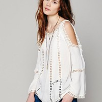 Free People Womens FP ONE Open Shoulder Top