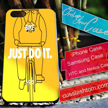 Exclusive Bike Just DO It iPhone for 4 5 5c 6 Plus Case, Samsung Galaxy for S3 S4 S5 Note 3 4 Case, iPod for 4 5 Case, HtC One M7 M8