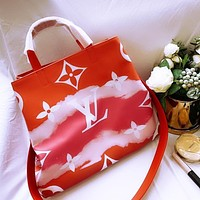 Onewel Lv 2020 Gm ice cream gradient shopping bag shopping big bag Red