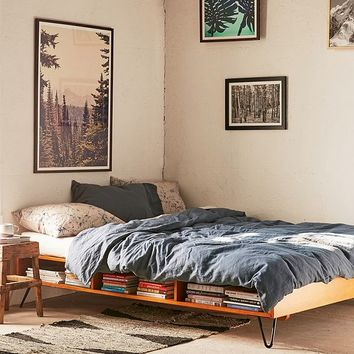 Border Storage Platform Bed | Urban Outfitters