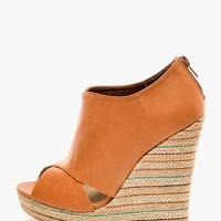 rust Alyson Peep Toe Wedge Heels   $10.00   Cheap Trendy Heels and Pumps Chic Discount Fashion for
