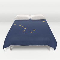 Alaska State Flag - Authentic version Duvet Cover by LonestarDesigns2020 - Flags Designs +