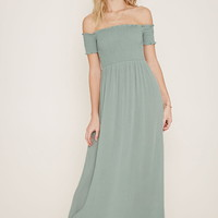 Strapless Smocked Maxi Dress