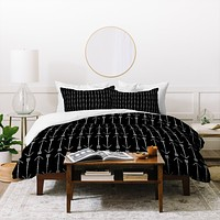 Allyson Johnson Black Arrows Duvet Cover