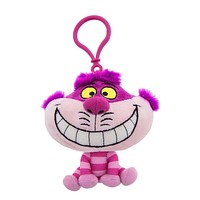 Disney Parks Cheshire Cat Big Face Plush Keychain New with Tags
