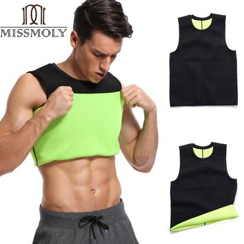 Slimming Belt Belly Mans Slimming Vest Body Shaper Neoprene Abdomen Thermo Fat Burning Shaperwear Waist Sweat Corset Weight Loss