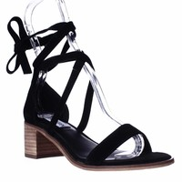 Steve Madden Rizzaa Lace Up Ankle Strap Sandals, Black, 8 US