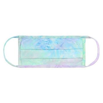 Tie Dye Reusable Pleated Face Masks for Kids
