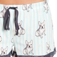 PJ SALVAGE | Pardon My French Graphic Print PJ Shorts | Nordstrom Rack