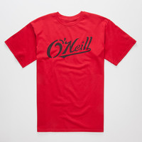 O'neill Athlete Mens T-Shirt Red  In Sizes