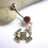 Let's Get Crabby Belly Button Rings