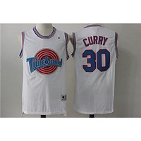 Space Jam Movie Jersey # 30 Stephen Curry White