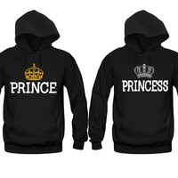 Prince and Princess Unisex Couple Matching Hoodies