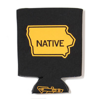 Iowa Native Black Koozie