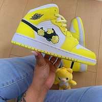 Air jordan new couple color matching high-top sneakers Shoes