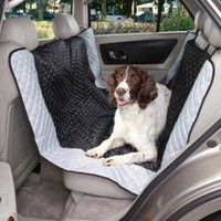 Guardian Gear Fairfield Hammock Car Seat Covers  -  Classic Quilted Car Seat Covers for Dogs, Black