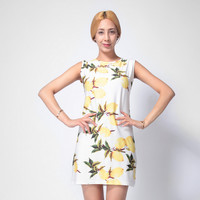 Lemon Printed Tank Dress  11115