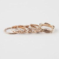 FULL TILT 6 Piece Text/Leaf Rings | Rings
