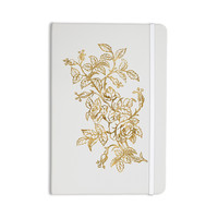 "888 Design ""Golden Vintage Rose"" Floral Digital Everything Notebook"