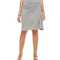 M.S.S.P. Ruched Midi Side Skirt - Grey