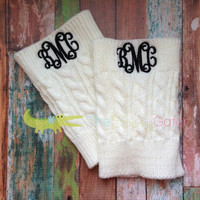 Monogrammed BOOT CUFFS-Preppy-personalized-cuff-bridal party-sorority-