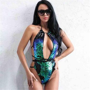 Color Changing Sequin Swimsuit Bikini