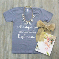 Pop The Champagne Bridal Shirt