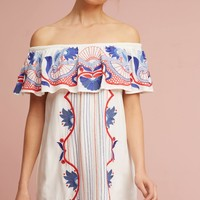 Embroidered Off-The-Shoulder Cover-Up