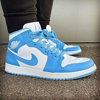 Nike Air Jordan 1 Retro High OG Dark Powder Blue Sneakers Shoes