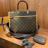 LV Louis Vuitton Handbag Shopping Bag Three Piece Set