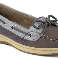 Sperry Top-Sider Angelfish Fishscale Slip-On Boat Shoe Graphite/Silver, Size 7.5M  Women's Shoes