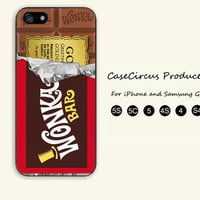 WILLY WONKA Golden Ticket,iPhone 5 case, iPhone 5C Case, iPhone 5S , Phone case,iPhone 4 Case, iPhone 4S Case,Samsung Galaxy S3, S4