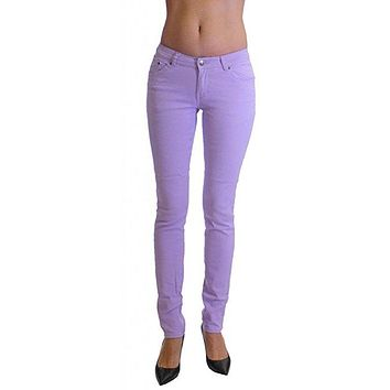 Lilac Colored Denim Skinny Jeans