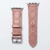 GG EMBOSS APPLE WATCH BAND - PINK