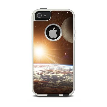 The Earth, Moon and Sun Space Scene Apple iPhone 5-5s Otterbox Commuter Case Skin Set