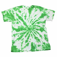 Vintage 90s Green Tie Dye Shirt Mens Size Small
