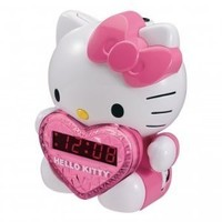 Hello Kitty AM/FM Projection Clock Radio with Battery Back-up