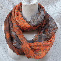 Letter Pattern Infinity Scarf ❊ 4 COLORS