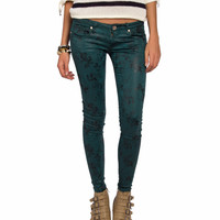 Coated Floral Jeans - 2020AVE
