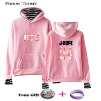 KPOP BTS Bangtan Boys Army Frdum Tommy  94 J-HOPE Fake Two Pieces Hoodies  Boys Menber  Casual Harajuku Sweatshirt Warm Fashion Clothes Plus Size AT_89_10