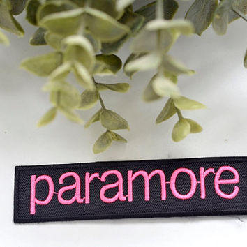 PARAMORE Music Iron on Patch