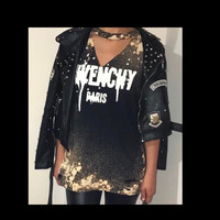 Givenchy inspired distressed tee