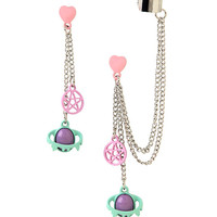 Pastel Pentagram Planets Drop Earring And Cuff Set