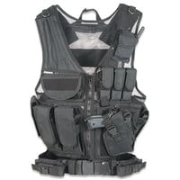Vest Tactical Law Enforcement Right Hand Black Leapers UTG Includes Mag Pouches Holster Gear Pouches Pistol Belt