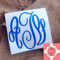 Car Decal Monogram sticker Monogram decal script Decal Monogram Gift Monogram sticker Car sticker Car Initials Vinyl Initials car sticker
