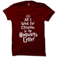 HARRY POTTER Shirt Christmas T-Shirt Black White Gray Maroon Unisex T-Shirt Tee S,M,L,XL #8