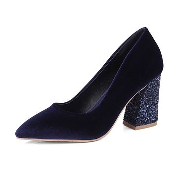 Pointed Toe High Heel Sequins Pumps